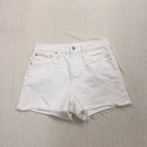 MADEWELL The perfect jean short- tile white
